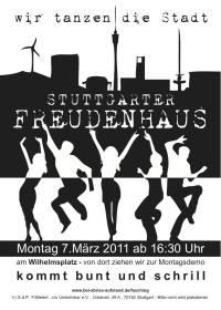 """07.03.2011 politischer Rosenmontagsumzug, Motto: """"Stuttgarter Freudenhaus"""""""