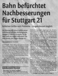 Stuttgarter Nachrichten vom 29.11.2010, aktualisiert am 01.12.2010 um 12:57