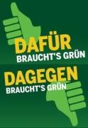 DAFÜR und DAGEGEN braucht's Grün - Kampagne der BÜNDNIS 90/DIE GRÜNEN Bundespartei