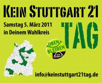 """Kein Stuttgart 21"" - Tag am Samstag 05.03.2011"