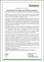 Presseerklärung vom 10.03.2011: Wer trägt mich die Treppe hoch? Rette sich, wer kann! (und andere Themen)