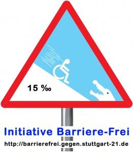 Tiefbahnhof: Eine Innovation für Rollstuhlfahrer - Warnschild