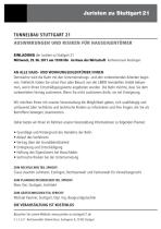 Thema: Tunnelbau S21 - Auswirkungen und Risiken für Hauseigentümer