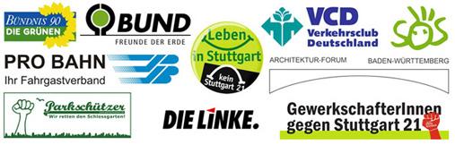 Kopfbahnhof 21 – Aktionsbündniss gegen Stuttgart 21 - Die Partner im Aktionsbündnis gegen Stuttgart 21 sind: